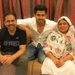 Shoaib Ibrahim with his parents