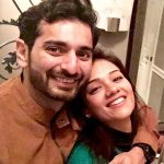 Siddhant Karnick with his wife Megha Gupta