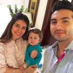 Syra with her daughter & Husband
