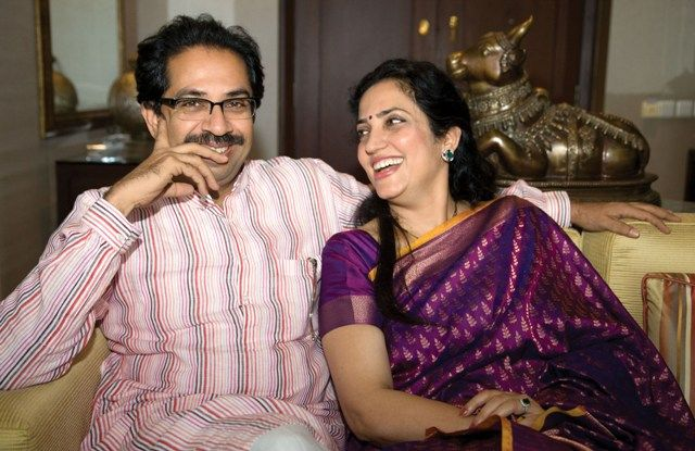 Uddhav Thackeray with his wife Rashmi Thackeray