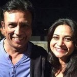 Manoj Verma with his wife