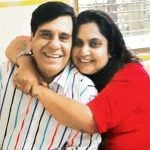 vandana-pathak-with-her-father-arvind-vaidya