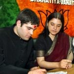Varun with his mother Maneka Gandhi