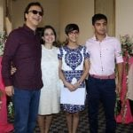 Anupama Chopra with her husband and children
