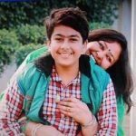Anita Devgan with her son