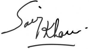 Saroj Khan Signature
