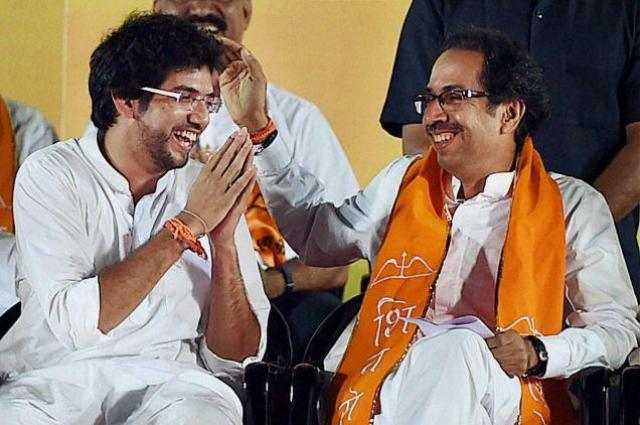 Uddhav Thackeray with his son Aditya Thackeray