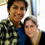 anshuman-jha-with-his-mother-kamla-jha