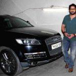 Arshad Warsi With His Car Audi Q7