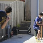Ashton Agar and his brothers practicing in the driveway