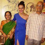 Bidita Bag with her parents