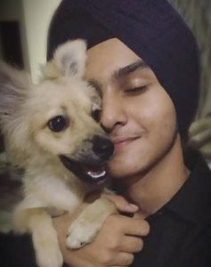 Damanpreet Singh- Dog Lover