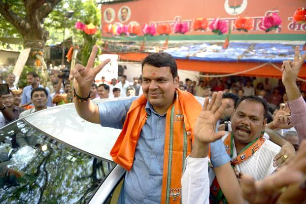 Devendra Fadnavis after being elected as the Mayor of the Nagpur Municipal Corporation