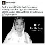 Farida Jalal Death Hoax