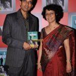 Harsha with his wife Anita