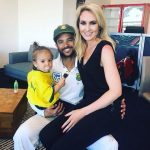 Sue Duminy with JP Duminy and daughter
