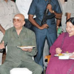 Jayalalithaa (right), and Cho Ramaswamy (left)