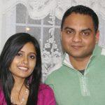 Miss Pooja with her husband Romi Tahli