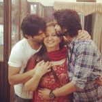 Mudit Nayar with his mother & brtother