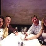 Nikki Bella with boyfriend John Cena, mother Kathy and future step father
