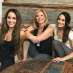 Brie Bella with her mother Kathy and sister Nikki Bella