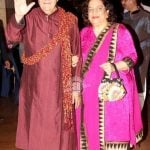 Uma Chopra with her husband Prem Chopra