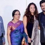 R. Madhavan with his parents and wife