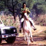 Raja Bhaiya riding Horse