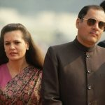 Rajiv Gandhi with his wife