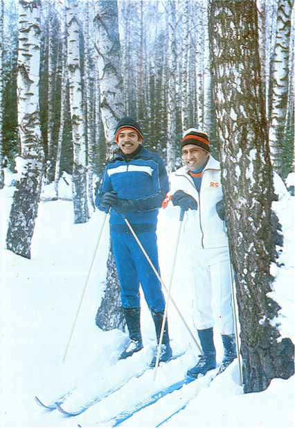 Rakesh Sharma Enjoying Skiing Along With Ravish Malhotra