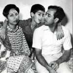Rakesh Sharma With His Wife Madhu And Son Kapil