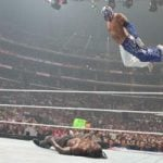 Rey Mysterio Frog Splash finisher
