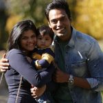 Samir Kochhar with his wife and son