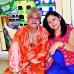 Sanjay Mishra with his wife Kiran