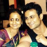 Sanket Bhosale with his mother