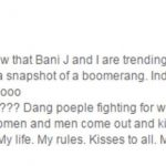 Sapna Bhavani Reply to Kiss Controversy