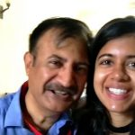 Sejal Kumar with her father