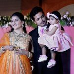 Sreesanth with his wife and daughter