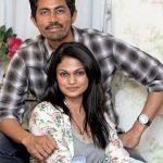 Suchitra with husband Karthik Kumar