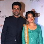 Sunil Grover with his wife