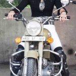 Yashmeen Chauhan bike