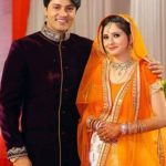 Anas Rashid with his fiancee Heena