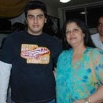 Arjun Kapoor with his mother Late Mona Shourie Kapoor