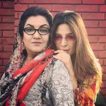 Ayesha Omar with her mother
