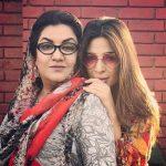 Ayesha Omar with her mother