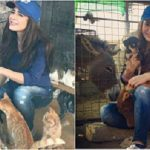 Ayesha Omer with animals