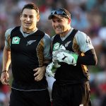 Brendon McCullum with brother Nathan McCullum