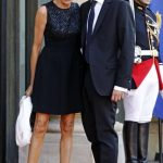 Brigitte Macron with her Husband