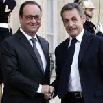 Francois Hollande meets Nicolas Sarkozy
