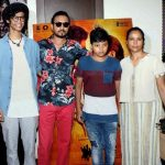 Irrfan Khan with his wife and children